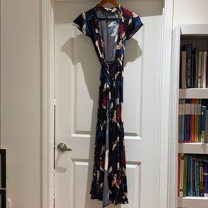 Tularosa wrap maxi dress size xsmall